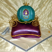 Cinderella Carriage And Pillow All is edible.Made the shoe with chocolate mold.TFL!