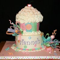 Hannahs Cake Thanks to Tamivo for the inspiration.I did one of this last year,cant believe what a difference a year can make!Buttercream with fondant...