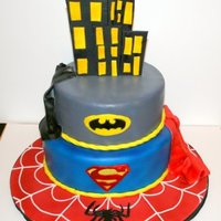 Super Hero Cake Got the idea from Jackson,thanks you.