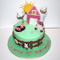 Molly's First Birthday Made this for BFFs daughters first bday!All is edible minus wires in clouds.TFL