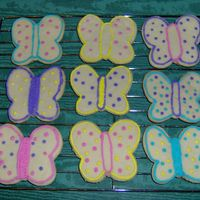 Butterfly Cookies I was practicing when I made these cookies. They're frosted with royal icing. My bf doesn't like things too sweet, so I didn&#039...