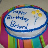 Birthday Balloons I made this for my boyfriend. It's very similar (haha) to one I made at the same time for a co-worker.
