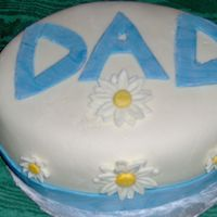 Father's Day Cake I made this cake for Father's Day, though it turned out looking like an Easter egg! It's a chocolate cake covered in and...