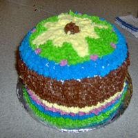 "Kids Class Cakes These were the final day's project in my Icing Fun kids class at the community college. They are each two 6"" layers, one..."