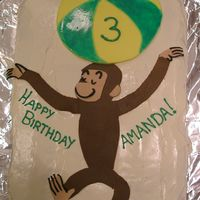 Curious George Monkey Birthday Cake My daughter had a gymnastics party for her third birthday and wanted a monkey cake since I always say she looks like a monkey when she...