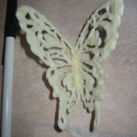 Candymelt Butterfly For a cake I'm making this weekend, pen is just there for size reference.