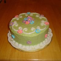 Springy Cake I made this cake for Easter after my second Course 1 class. Strawberry Cake inside. Mmmmmmm