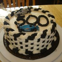 Race Day Cake A spur of the moment cake I made for an Indy 500 cookout.