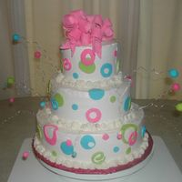 Dscn0815.jpg I did this cake for the a teachers birthday at my husbands school. It's buttercream with fondant accents and a gum paste bow. I wasn&#...
