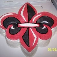 University Of Louisiana At Lafayette Fleur Des Lis  Request by a friend at college for an end of the academic year event. It was my first time working with such a large fondant piece and it...