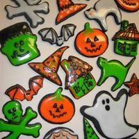 Halloween Cookies Chocolate Sugar Cookies with Powdered Sugar Glaze.