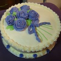 Purple Rose Class Cake Purple buttercream roses
