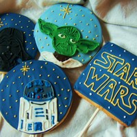 Star Wars Cookies Star Wars theme sugar cookies. These were more of a challenge than I expected. All images were drawn free hand. TFL