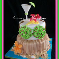 Hawaiian Bridal Shower  cake for a bridle shower with a hawaiian theme the couple are going to Hawaii for their honeymoon so the bride decided to have a hawaiian...