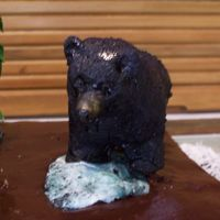 123406363664695.jpg Black Bear, fondant and aluminum foil