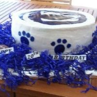 Penn State This is Penn State cake, Lion and Paws are made of fondant, paw s are on side of cake