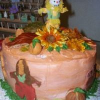 Thanksgiving Cake Scarecrow, Thanksgiving, turkey