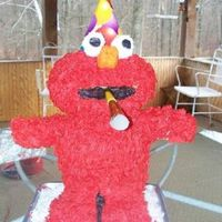 Elmo Elmo party again, this time I have learned more about stacking cakes