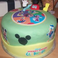 Izobel Is Three My daughter is three and loves mickey mouse clubhouse the cake is plain sponge with buttercream filling and covered in fondant