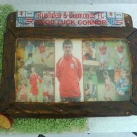 Connors Cake This is the cake i made for my brother connor he is going away to playfootball
