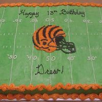 Bengals Field Cake football Birthday cake of the Bengals field