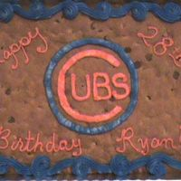 Cubs Cookie A cookie cake for a Cubs fan!