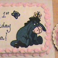 Eeyore Cake Eeyore cake & butterfly smash cake for a lil girls 1st birthday