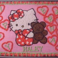 Hello Kitty Cake Hello Kitty birthday cake for a first birthday