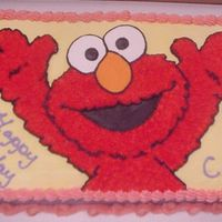 Elmo Cake Elmo Birthday Cake for a little girl