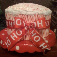 Christmas Peppermint Cake Love this little cake that goes together so fast, looks adorable, and always gets rave reviews! This was for hubby's office. Big red...