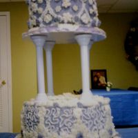 Anniversary Cake blue and white