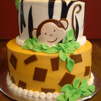Safari Iced in buttercream with fondant accessories.