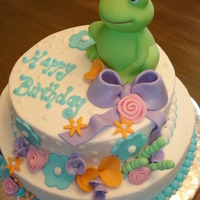 Spring   Iced in buttercream with fondant accessories. The frog is, of course, fake...