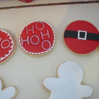 Hohoho Santa's Coming vanilla/almond sugar cookies- lots of inspiration from fellow ccer's thanks for looking