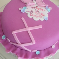 "Ballerina   ballerina ""tutu"" 8"" vanilla with fondant decorations handpainted birthday plaque"