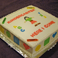 Kindergarten Cake   Buttercream w/MMF accents