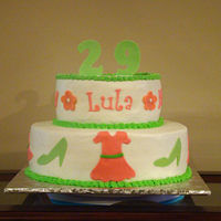 Shopping Cake   Buttercream w/MMF accents