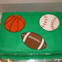 Sports Ball Cake   All buttercream