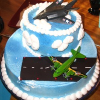 Airplane Cake Made this cake for my dad a few years ago. He loves military planes. I wanted to make the plane out of fondant, but did not have the...
