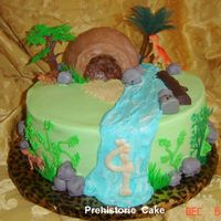 "Prehistoric Cake 12"" Chocolate/Sour Cream cake with Oreo Filling, Cake on tip was made in ball pan, Rocks are Cake balls. This cake was made for a..."