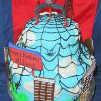 Spiderman Cake With Sugar Veil Spider Web  This is my first use of the Sugar Veil product. The web was pretty easy to make. My suggestion is to be consistently large with the...