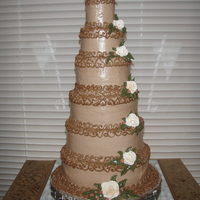 "Tiny Tiers This cake only serves 16with a 2,3,4,5,6, and 7"" tiers each tier 2"" tallwas made for a mother as a surprise for her daughter (a..."