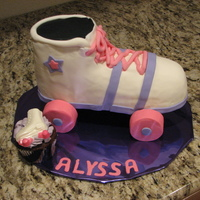 Roller Skate Cake   WASC cake with SMBC and Satin Ice fondant TFL