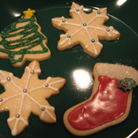 Christmas Cookies NFSC with candy melts for decoration. TFL