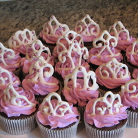 Princess Cupcakes   Cupcakes for the Father Daughter dance. The tiaras are white chocolate. TFL