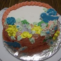 Final For Class 2 I had fun with this, I'm sorry the class had to end we all had so much fun!! White cake with butter cream icing. Royal Icing flowers,...