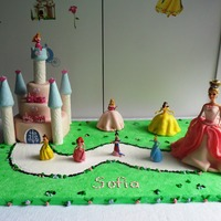 Castle Cake,princess Cake I made this cake for one of my grandaughters.She wanted a castle cake with princess.MM fondant and chocolate mud cake