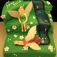 My First Fairy Cake Fairy cake for a girl named Flora Bella.