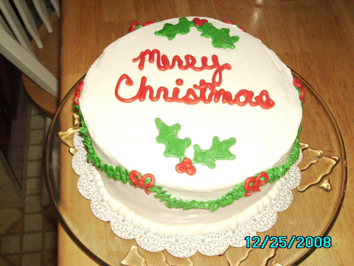 Christmas Cake Lemon Cake with Lemon mousse. Quickly thrown together for the family Christmas. Hubby's aunt called the next day to say how much she...