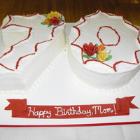 Mom's 70Th Birthday Mom turned 70 on Thanksgiving this year. Party with Extended family. Gumpaste roses - thanks tonedna for the great tutorial! Cake inspired...